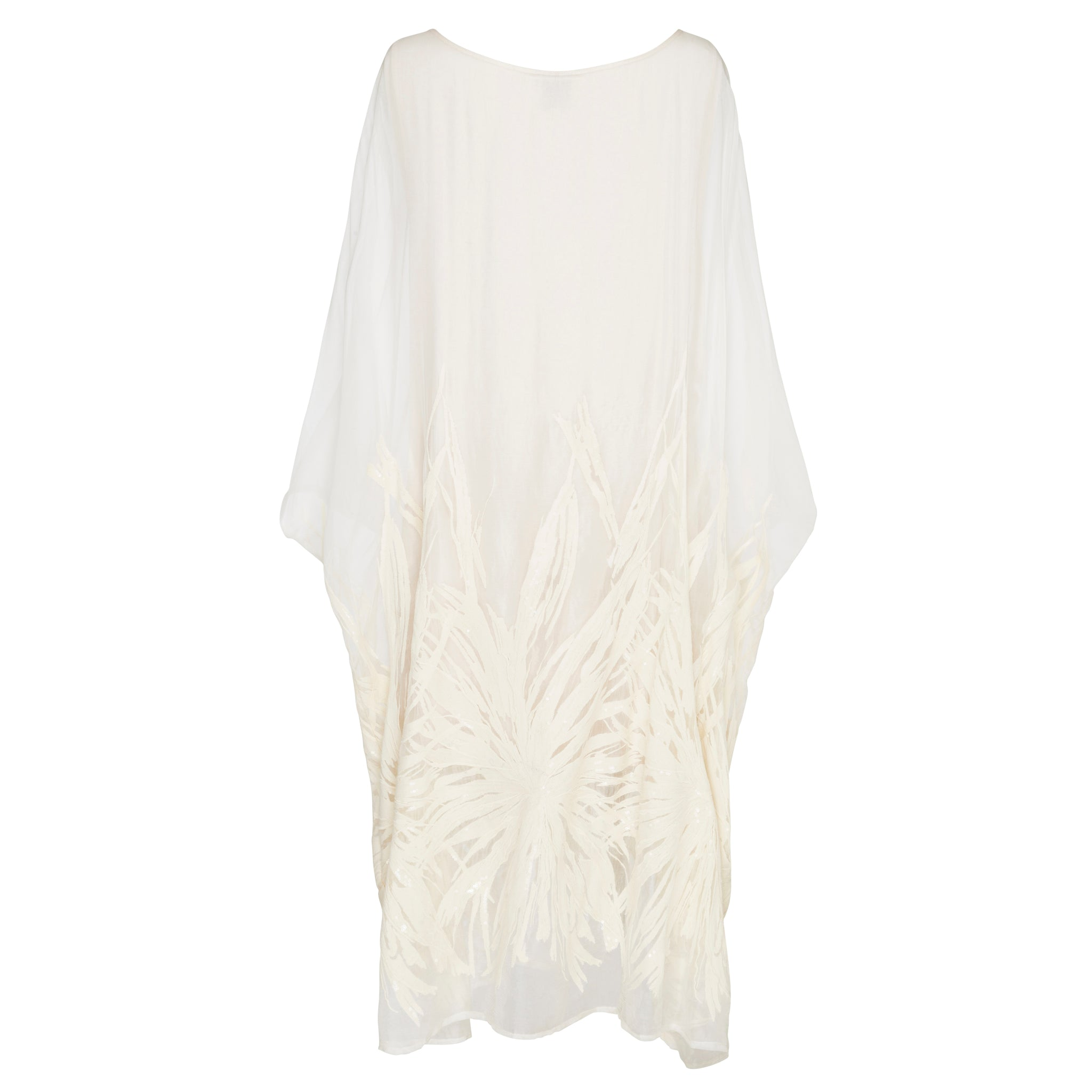 Ethereal Dress - Pure Silk Yoryu Cotton Embroidery & Sequins