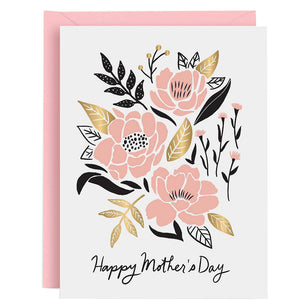 Happy Mother's Day Pink Flowers Card