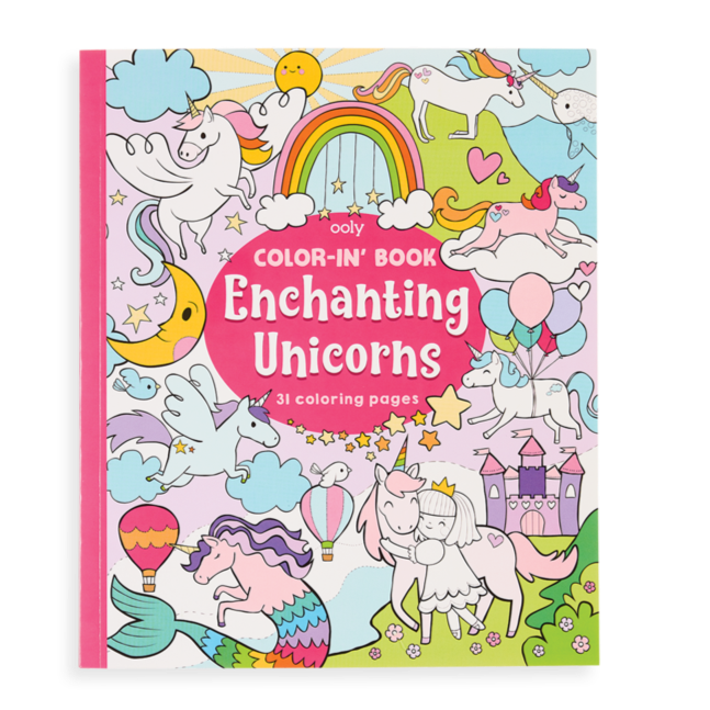 Color-In Book- Enchanting Unicorns