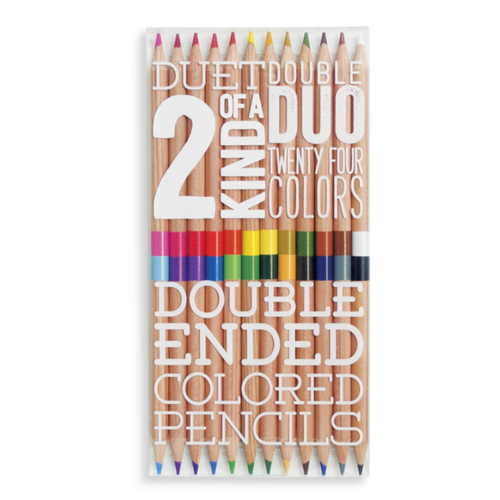 Two of a Kind Double Ended Colored Pencils - Set of 12