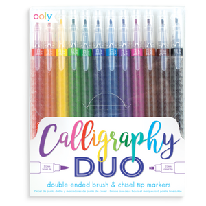 Calligraphy Duo Chisel and brush markers