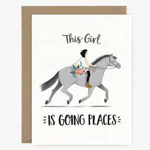 Going Places Pony Card