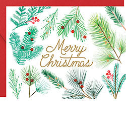 Merry Christmas Branches Foil A2 (S/10)