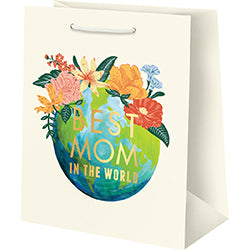 Best Mom in World FOIL Medium Bag