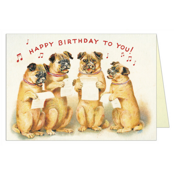 Happy Birthday to You Dog Greeting Card