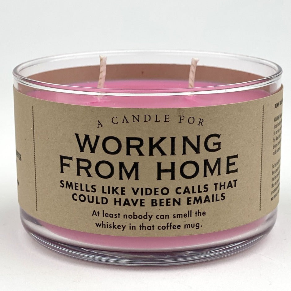 Working from Home Candle