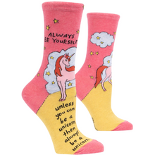Load image into Gallery viewer, Socks-  Always be a Unicorn Women's Socks