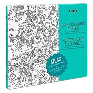 Giant Atlas Coloring Poster - folded
