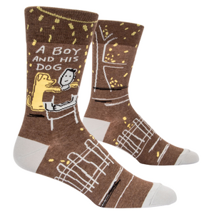 A Boy and His Dog Men's Socks