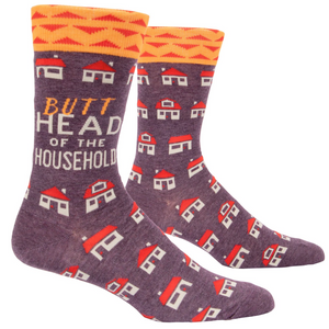 Butt Head of the Household Men's Socks
