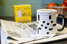 Load image into Gallery viewer, Crossword Puzzle Mug