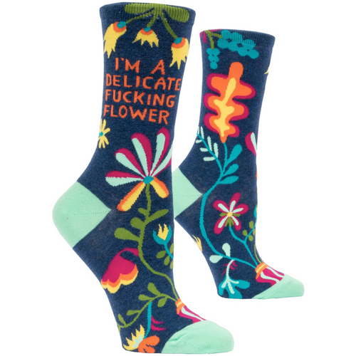 SOCKS- I'm a delicate F*cking Flower Women's Socks