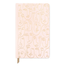 Load image into Gallery viewer, Faces pink notebook -  bookcloth cover