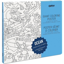 Load image into Gallery viewer, Giant Ocean Coloring Poster - folded