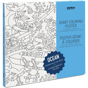 Giant Ocean Coloring Poster - folded