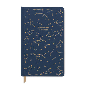 Constellations notebook - navy bookcloth cover