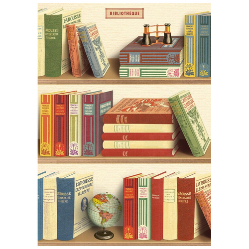 Library Books Vintage Flat Wrap