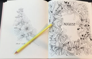 Flower Year Coloring Book