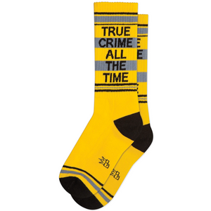 True Crime all the Time Ribbed Gym Socks
