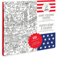 Load image into Gallery viewer, Giant USA Coloring Poster - folded