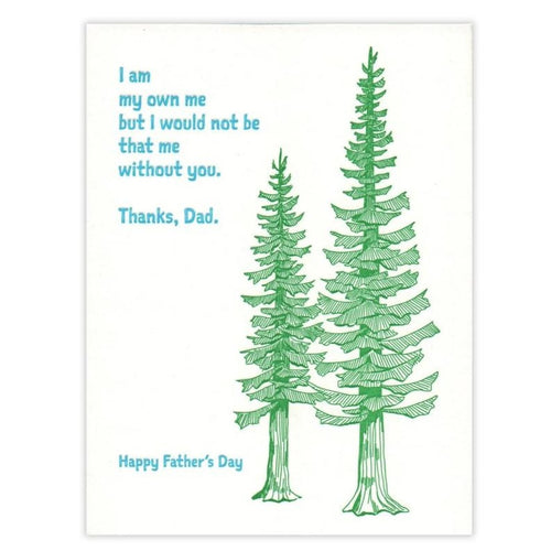 Father's Day Conifers Card