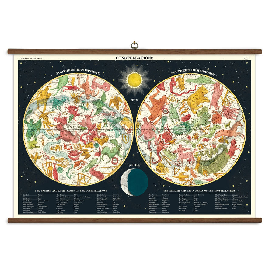 Constellations Vintage School Chart