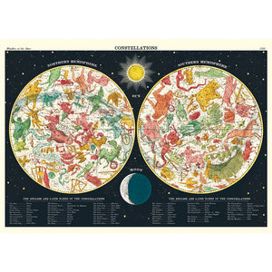 Constellations 2 Vintage Flat Wrap (colorful)