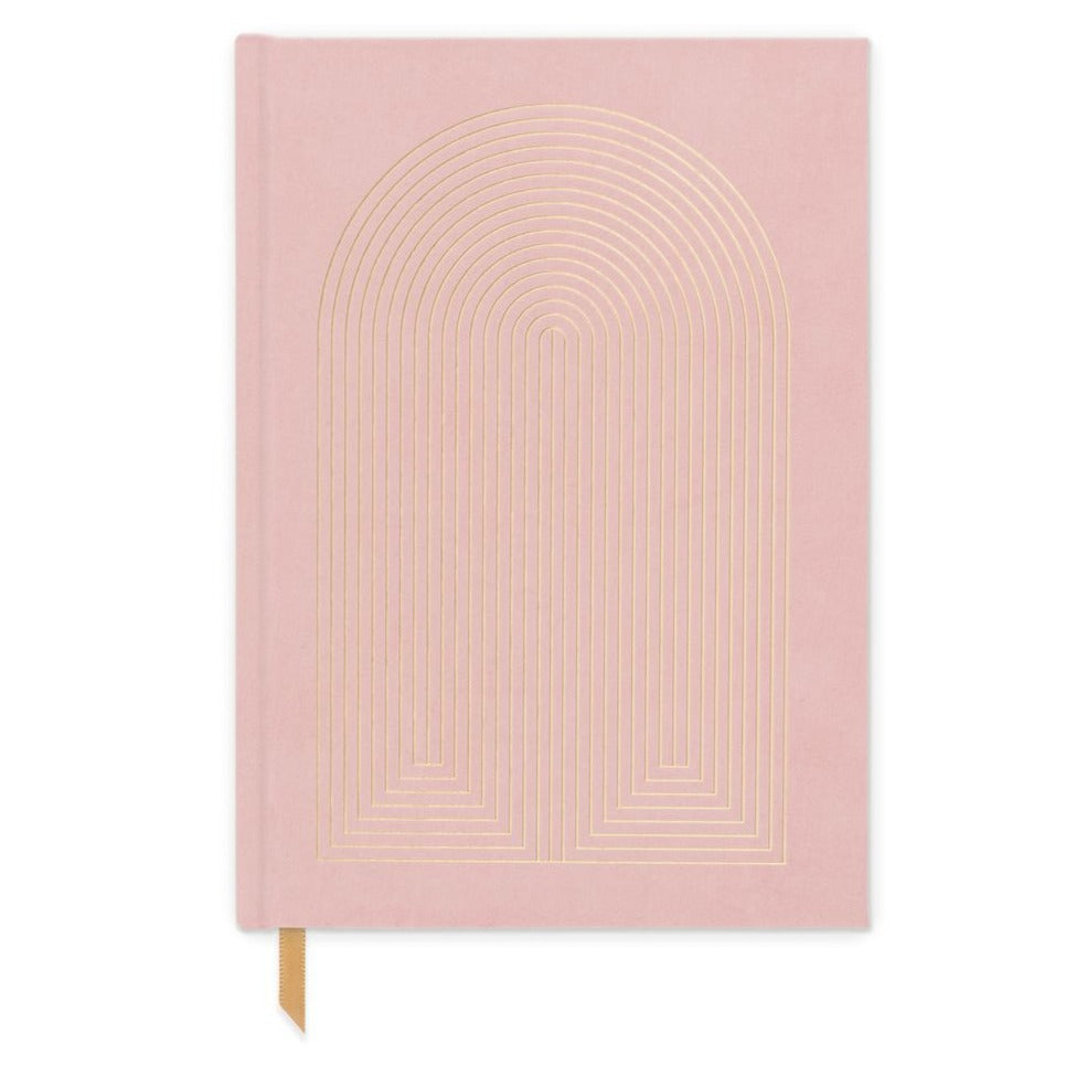 Dusty Pink Radiant Rainbow Journal - Bookcloth cover