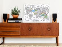 Load image into Gallery viewer, Giant Atlas Coloring Poster - folded