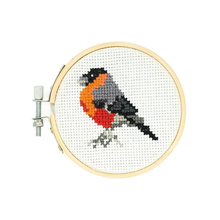 Load image into Gallery viewer, Mini Cross stitch Embroidery Bird