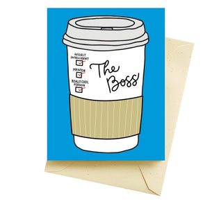 Boss Coffee Boss Day Card