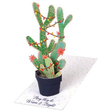 Load image into Gallery viewer, Christmas Cactus Pop Up Card
