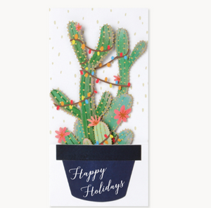 Christmas Cactus Pop Up Card