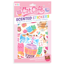 Load image into Gallery viewer, Cat Cafe Scented Scratch stickers