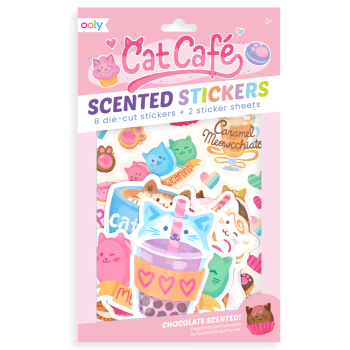 Cat Cafe Scented Scratch stickers