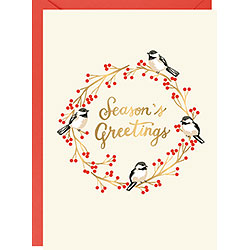 Chickadees Seasons Greetings Foil A6 (S/10)