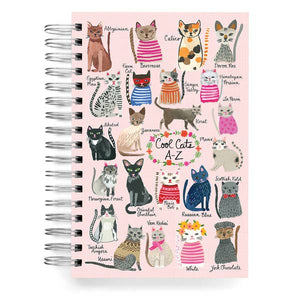 Cool Cats A-Z Lined Journal