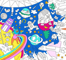 Load image into Gallery viewer, Giant Cosmos Coloring Poster - folded