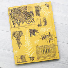Load image into Gallery viewer, Bees Hardcover Lined Grid Notebook