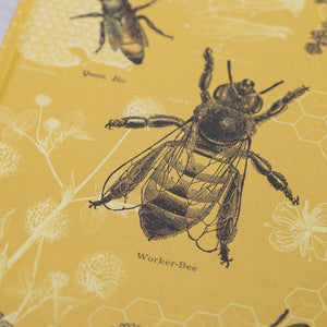 Bees Hardcover Lined Grid Notebook