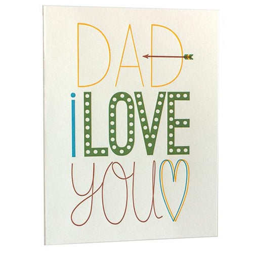 Dad Fun Fonts Card