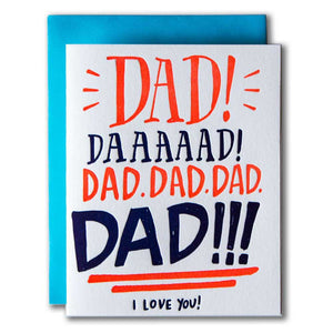 DAD!! I love you Letterpress Card