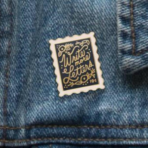 Write More Letters Enamel Pin