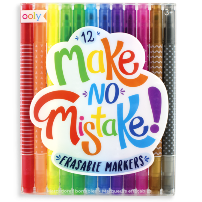 Make No Mistake Erasable Markers - Set of 12
