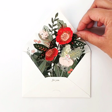 Load image into Gallery viewer, Floral Envelope pop up
