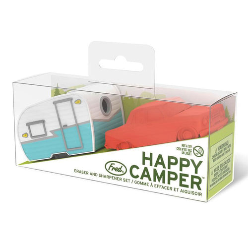Happy Camper - Eraser + Sharpener