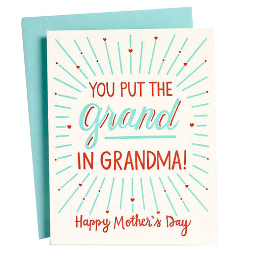 Grand In Grandma Card