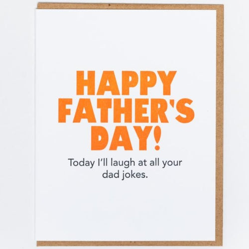 Dad Jokes Letterpress Card