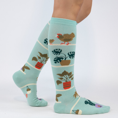 Hen and Chicks Knee High Socks