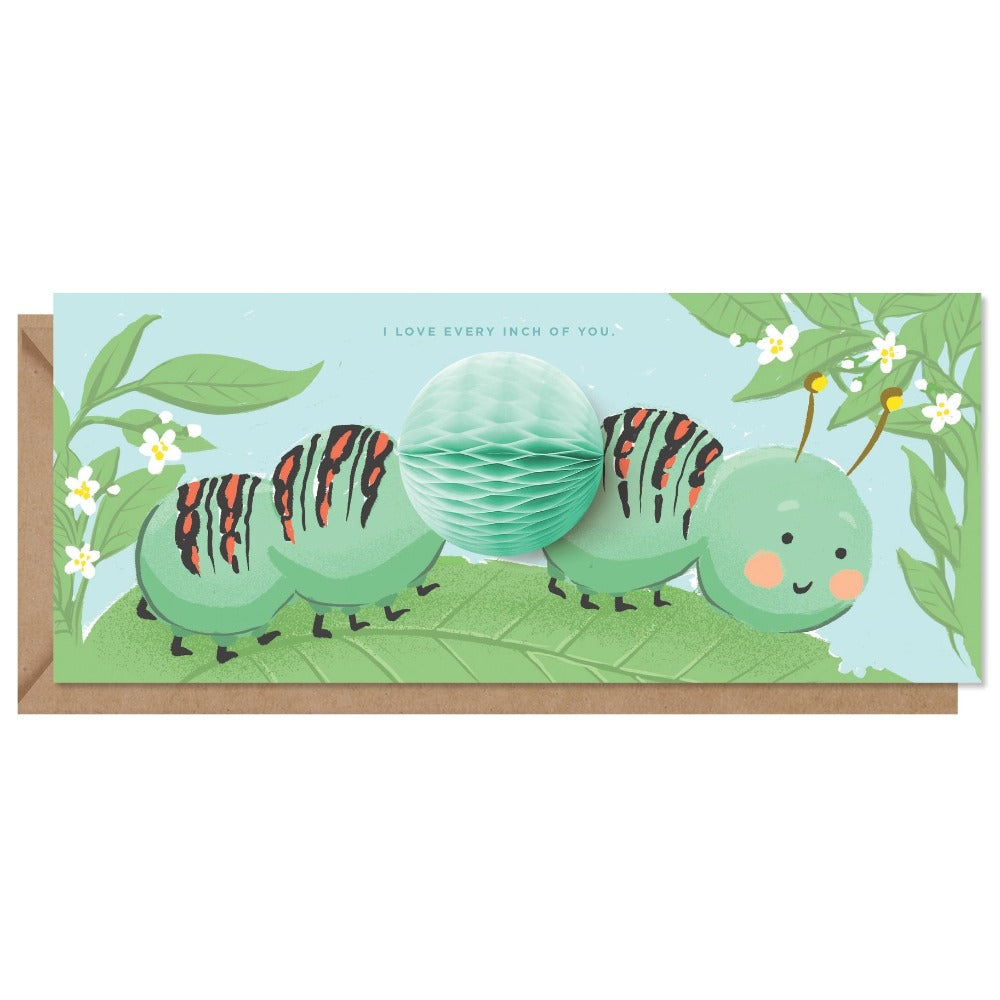 Inchworm Pop-up Card